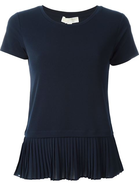 pleated detail T shirt 11371072