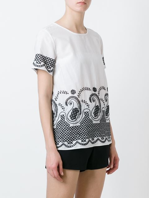 embroidered T shirt 11388223