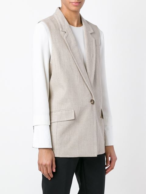 single button gilet 11392981