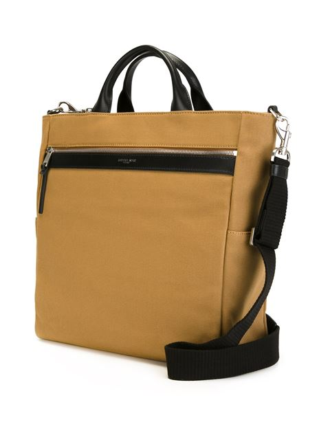 contrast handle and trim tote bag 11401521